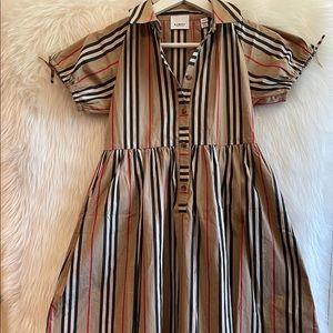 Burberry icon stripe cotton/poplin dressNEW sz 10y